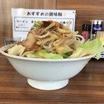 麺家ひまり - 【2018.3.25】まるそば¥750+肉増し¥100にヤサイ増し‼️