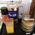 麺家ひまり - 【2018.3.25】卓上調味料。