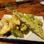 桜鍋 吉し多 - 野菜の天ぷら