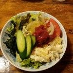 桜鍋 吉し多 - 具だくさんの桜肉のサラダ