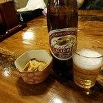 桜鍋 吉し多 - キンンラガーで乾杯