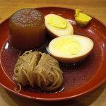 お多幸 浦和店 - 大根、たまご、糸こん。