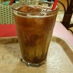 サクラカフェ幡ヶ谷 - アイスコーヒーにクリームを