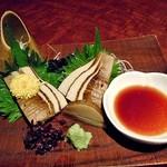 餃子日和わらん 越後のわらやき家 - 新タケノコのわらやき