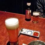 餃子日和わらん 越後のわらやき家 - 生ビール & ノンアルコールビール