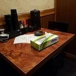 麺屋 雷神 - テーブル