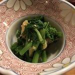 大和寿司 - お通し/青菜とあさり