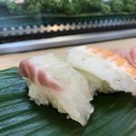 みわ寿司 - カンパチ、海老(2018.4.1)