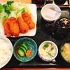 美ゆき - 料理写真:ランチ@牡蠣フライランチ 980円 マヨネーズの小皿、後から届きました。