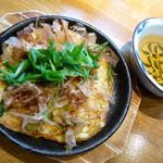古無門 - 山芋の明石焼風。あっさりとした味わいで美味しいです