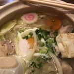 鶴亀屋春慶 - 鶏白湯スープうどん鍋