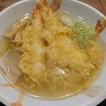 ささや食堂 - 海老天ぷらラーメン(850円)