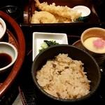 83408847 - 昼御膳 ご飯、味噌汁、茶碗蒸し
