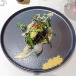83411978 - ランチコース前菜:筍・ワカメ・桜海老のフリット