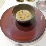 83412009 - ランチコーススープ:牛蒡のスープ