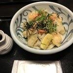 Fukuchan - 小海老と揚げ餅のぶっかけ