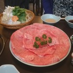荒井屋 - 「しゃぶしゃぶ 特撰(赤身)」4,500円×2