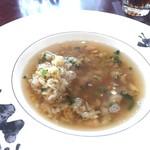 SESSION - 鉄観音茶が香る蒸しスープをかけて食べます