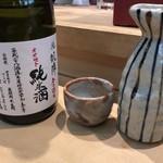 三代目 まる天 - 悦 凱陣 無濾過生 オオセト 純米酒(ぬる燗)