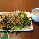 伊賀バルV.B - サラダバーとスープ