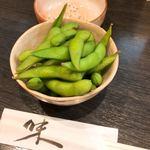 味噌おでん くろさわ - セットの枝豆