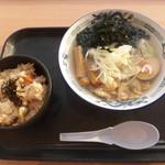 波市 - 料理写真:あさりの塩ラーメン・あさりご飯セット 1100円