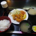 大船おでんセンター - カキフライ定食