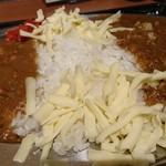 カレー食堂 マッハ - オリジナル・チーズトッピ:中盛♪