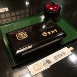 登利平 - 登利平 本店(群馬県前橋市六供町)上州御用 鳥めし 松重(味噌汁付き)900円