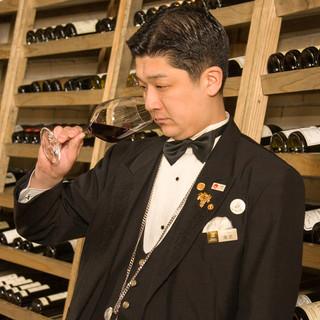 ソムリエがセレクトする豊富なワイン