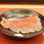 鮨 そえ島 - 料理写真:◆金目鯛(銚子) 熟成度がよく、金目の旨みをよく感じ絶品。