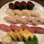 錦寿し - 寿司盛り合わせ