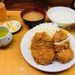 山家 - ひれかつ定食(950円)
