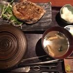 83440069 - 大山鶏の香味刺身ステーキ定食
