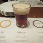 地ビール&ピッツァ オークラブルワリー - 2杯目はシェーンアルト、アルトタイプでキャラメルモルトの甘く香ばしい風味とホップの苦味が味わえるビールです。