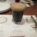 地ビール&ピッツァ オークラブルワリー - 飲み比べ3杯目はダイコク、スタウトタイプのしっかりとした存在感のある黒ビールです。