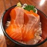 甲州ほうとう 百間 - ミニ甲州サーモン丼