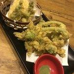 炭火居酒屋 のんべえ - 春の天ぷら