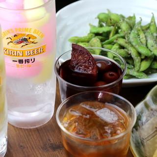 種類豊富なドリンク♪自家製梅酒&サングリアも人気♪
