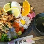 しらす料理の豊洋丸 - トリプル丼 ¥1300