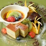 イニッツィオ - 料理写真:メッセージ入りのデザートプレート¥1500より御用意致します。