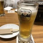 ミスター焼肉 - 生ビール 500円