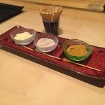 てんぷら 木坂 - 料理写真:塩(柚子、海藻、カレー)