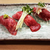 肉いち枚 - 料理写真:肉寿司おすすめの3貫セット