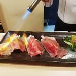 サーロイン肉寿司2貫or3貫