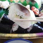イキイキ!すし市場 - 松前(サバの押し寿司)です