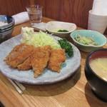 とんかつ・和食 丹 - ヒレ、アジフライ定食