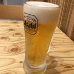 き田たけうどん - 生ビール400円