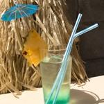ライオン食堂 - オリジナルカクテル:長浜ブルー
