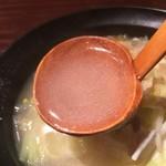 八幡浜はなれ - 八幡浜ちゃんぽんのスープ